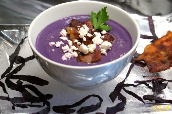 Rotkohl-Suppe